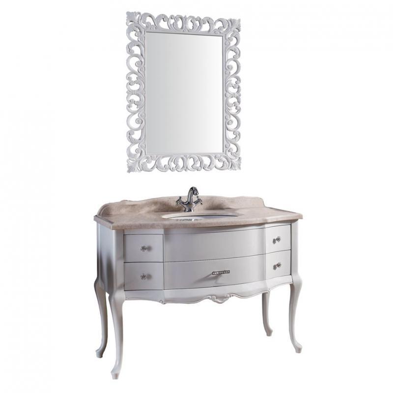 Престиж New 115  Demax 173330 БелаяМебель для ванной<br>Тумба под раковину Престиж NEW 115 DEMAX. Цвет белый.<br>