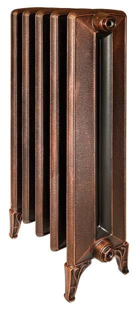 Bohemia 800 x1Радиаторы отопления<br>Стоимость указана за 1 секцию. Чугунный секционный радиатор RETROstyle Bohemia 800/220 без узора 990x86x225 мм с боковым подключением. Межосевое расстояние - 800 мм. Радиаторы поставляются покрытые грунтовкой выбранного цвета. Дополнительно могут быть окрашены в один из цветов палитры RAL (глянец), NCS (матовый), комбинированная (основной цвет + акцент на узорах), покраска с патинацией (old gold; old silver, old cupper) и дизайнерское декорирование. Установочный комплект приобретается дополнительно.<br>