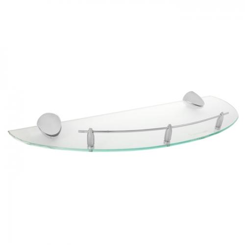 Allegro 75.33.00  ХромАксессуары для ванной<br>Allegro 75.33.00 полочка стеклянная под зеркало. <br>Монтаж на 4 отверстия.<br>Изготовлено из латуни, гальваническое покрытие, хром, ударопрочное закаленное стекло, комплект креплений (дюбель, саморез).<br>