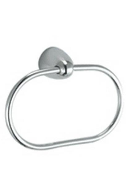 Allegro 75.40.00 ХромАксессуары для ванной<br>Allegro 75.40.00 кольцо для полотенца. Изготовлено из латуни, гальваническое покрытие, матовый хром, комплект креплений (дюбель, саморез)<br>