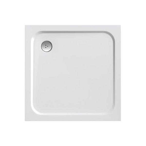Perseus Pro Chrome 90 БелыйДушевые поддоны<br>Ravak Perseus Pro Chrome 900x900 мм., поддон из литого мрамора, белый. Отверстие для сифона 90 мм. Поддон серии Galaxy PRO можно устанавливать в бетонный каркас (например, при установке поддона в пол).<br>