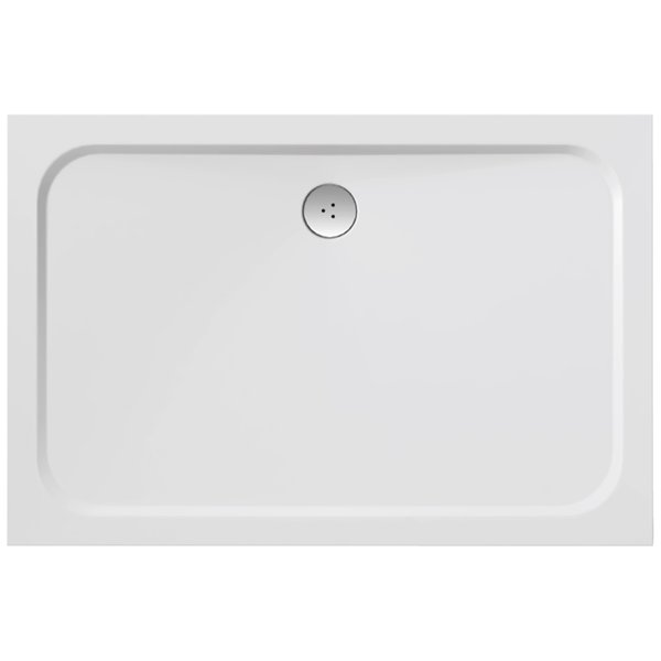 Gigant Pro Chrome 110 x 80 БелыйДушевые поддоны<br>Ravak Gigant Pro Chrome 1100x800 мм., поддон из литого мрамора, белый. Отверстие для сифона 90 мм. Поддон серии Galaxy PRO можно устанавливать в бетонный каркас (например, при установке поддона в пол).<br>