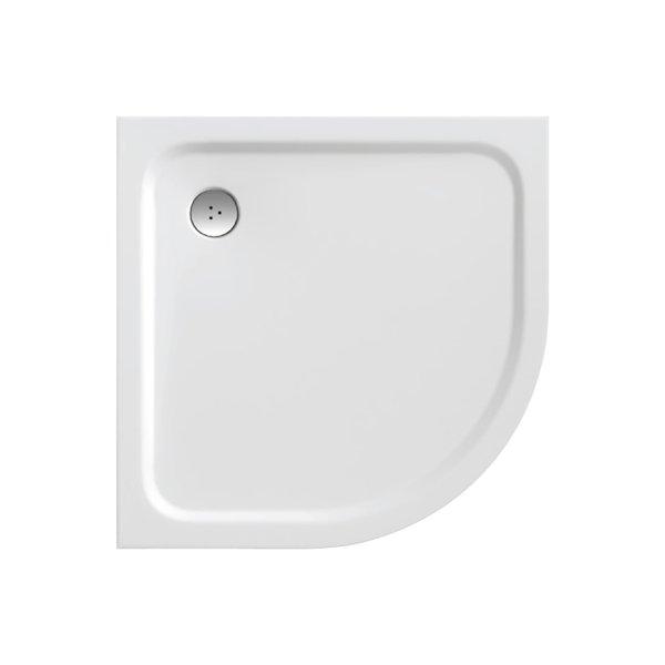 Elipso Pro Chrome 80 БелыйДушевые поддоны<br>Ravak Elipso Pro Chrome 80 поддон из литого мрамора, белый. Отверстие для сифона 90 мм. Поддон серии Galaxy PRO можно устанавливать в бетонный каркас (например, при установке поддона в пол).<br>