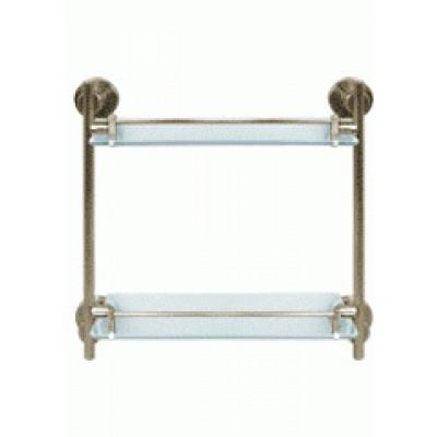Cerchio 63.02.04 БронзаАксессуары для ванной<br>Cerchio 63.02.04 Полка стеклянная двойная.<br>