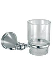 Bacione 61.38.00 ХромАксессуары для ванной<br>Bacione 61.38.00 держатель стакана настенный.<br>Монтаж на 1 отверстие, изготовлен из латуни, гальваническое покрытие, хром, комплект креплений (дюбель, саморез).<br>