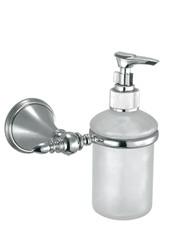 Bacione А61.38.00  ХромАксессуары для ванной<br>Bacione А61.38.00 дозатор жидкого мыла настенный. Монтаж на 1 отверстие, изготовлен из латуни, гальваническое покрытие, хром, комплект креплений (дюбель, саморез).<br>