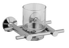 Quadro 21.38.00  ХромАксессуары для ванной<br>Quadro 21.38.00 держатель стакана настенный.  Монтаж на 1 отверстие. Изготовлен из латуни, содержание свинца 1,0-1,6 %. Покрытие хром 0,25-0,35 микрометра. Комплект креплений (дюбель, саморез).<br>