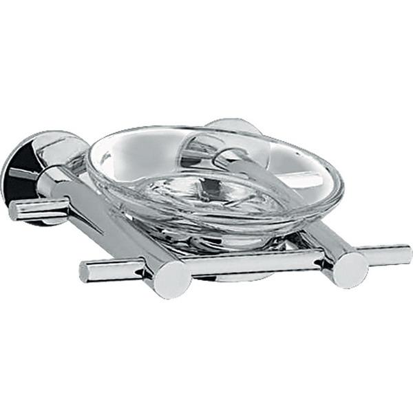 Quadro 21.39.00  ХромАксессуары для ванной<br>Quadro 21.39.00  держатель мыльницы настенный. Монтаж на 2 отверстия. Изготовлен из латуни, содержание свинца 1,0-1,6 %. Покрытие хром 0,25-0,35 микрометра. Комплект креплений (дюбель, саморез).<br>