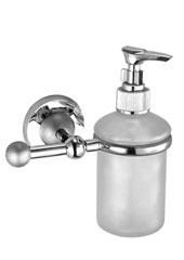 Toscana А73.38.01 ХромАксессуары для ванной<br>Toscana А73.38.01 дозатор жидкого мыла настенный. Монтаж на 1 отверстие, изготовлен из латуни, гальваническое покрытие, хром, комплект креплений (дюбель, саморез).<br>