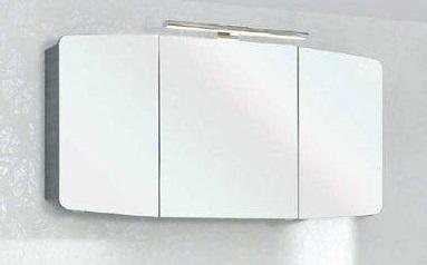 Cassca  CS-SPS 09 1400 ммМебель для ванной<br>Pelipal Cassca CS-SPS 09 Comfort зеркальный шкаф с светодиодной подсветкой, 3 зеркальные дверцы, 6 стеклянных полок, розетка и выключатель, цвет корпуса  графит структура.<br>