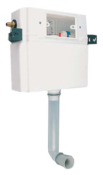95.700.00.0003 Без клавиш смываИнсталляции<br>Sanit Скрытый смывной бачок 983 N с малым ревизионным отверстием, двухрежимная система смыва (9/4,5 л или 6/3 л) или система Start/Stop, в к-те: сливной патрубок,наполнительный клапан (арматура класса А), угловой клапан R 1/2, впускной штуцер R 1/2, защитный короб (укорачиваемый) с крышкой для ревизионного отверстия.<br>