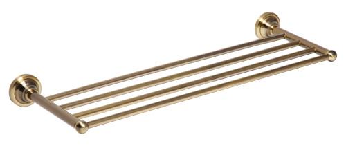 Retro bronze 144102187 БронзаАксессуары для ванной<br>Bemeta Retro bronze 144102187 полочка для полотенца. Размеры: 240х600х150 мм.<br>
