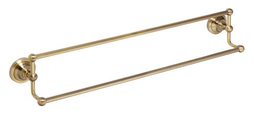 Retro bronze 144104237 БронзаАксессуары для ванной<br>Bemeta Retro bronze 144104237 держатель для полотенца двойной. Длинна:  600 мм.<br>