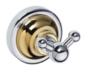 Retro Gold and Сhrom 144206038 Золото хромАксессуары для ванной<br>Bemeta Retro Gold and Сhrom 144206038  двойной крючок для полотенца.<br>