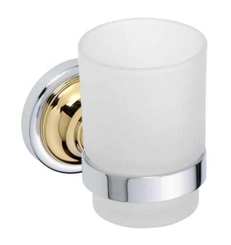 Retro Gold and Сhrom 144210018 Золото хромАксессуары для ванной<br>Bemeta Retro Gold and Сhrom 144210018 держатель для стакана.<br>