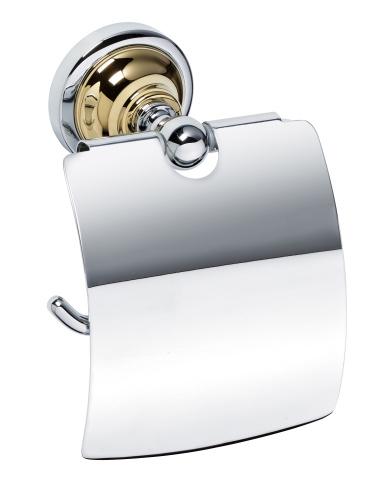 Retro Gold and Сhrom 144212018 Золото хромАксессуары для ванной<br>Bemeta Retro Gold and Сhrom 144212018 держатель для туалетной бумаги с крышкой.<br>