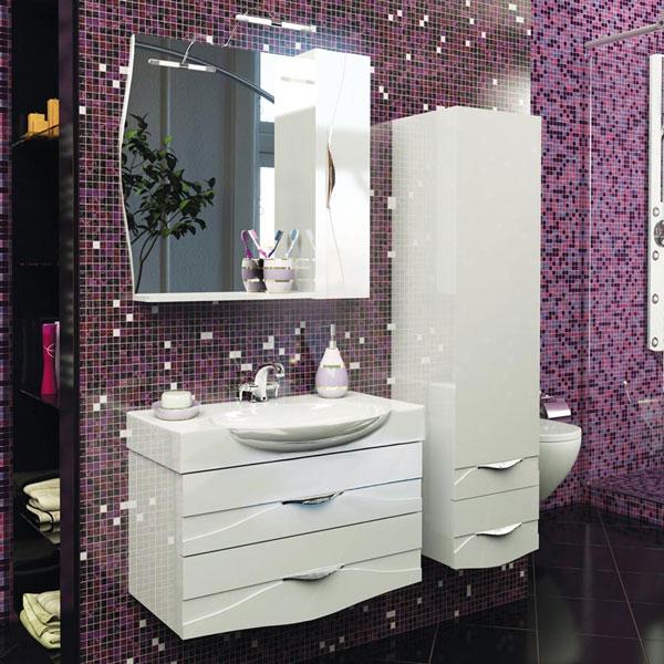 Bruno 75 БелаяМебель для ванной<br>Тумба под раковину Aquanet Bruno 75. Цвет белый.<br>