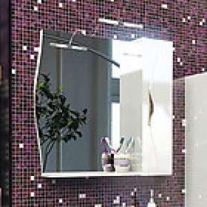 Bruno 75 БелыйМебель для ванной<br>Зеркальный шкаф Edelform Bruno 75. Цвет белый.<br>