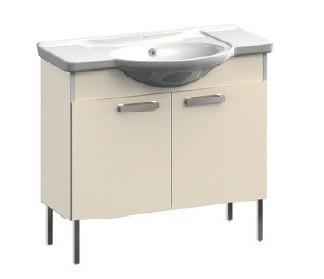 Dreja VR1-122-106 КоричневаяМебель для ванной<br>Тумба под раковину напольная на ножках Veronica Dreja VR1-122-106.  В стоимость входит раковина Dreja.  Цвет коричневый.<br>