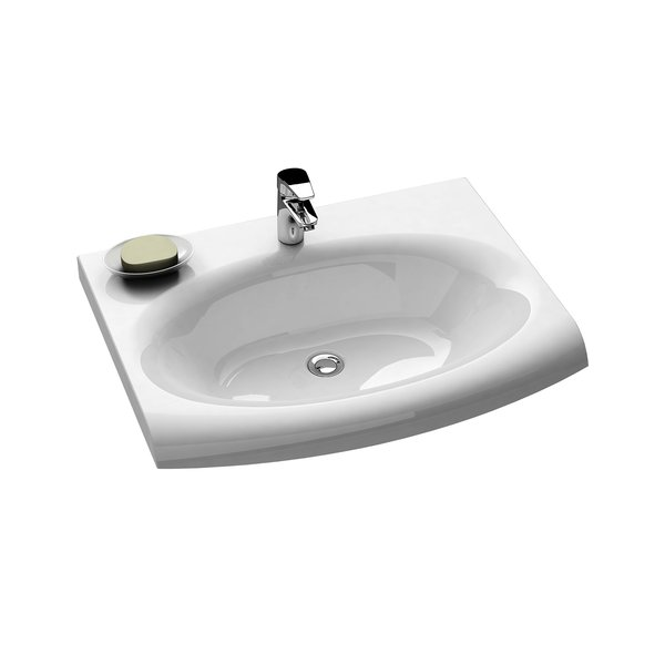 Evolution 700 cо скрытым переливомРаковины<br>Раковина Ravak Evolution 700. Артикул XJE01200000. Комбинируется с тумбой SD Evolution с полотенцедержателем или SDS Evolution с ящиком, смесителем RAVAK, зеркалом и полкой Evolution. В дополнение возможность установки ванны или душевого уголка с мебелью  и аксессуарами RAVAK и Chrome. Поставляется с отверстием 35 мм под смеситель.<br>