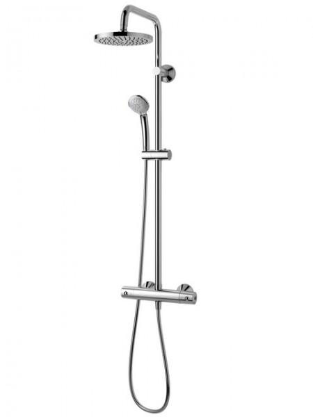 Ideal Rain A6037AA ХромДушевые системы<br>Душевая система Ideal Standard A6037AA IdealRain SOFT ECO с термостатом CeraTherm 100. Верхний душ из пластика, 3-х режимный ручной душ, душевой шланг IdealFlex 1.75 м. Возможность регулировки расхода воды, труба для верхнего душа &amp;amp;#216;25 мм.<br>
