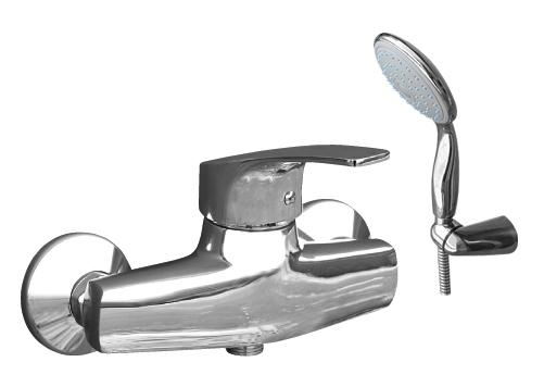 Kongo K080.5/2 ХромСмесители<br>Rav Slezak Kongo K080.5/2 смеситель для душа с душем в комплекте. Шланг -150 см. Установка на стену. Подвижный держатель.<br>