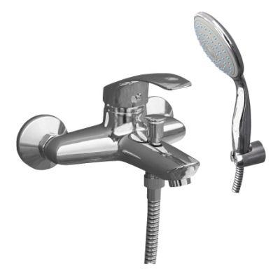 Mississippi MS054.5/1 ХромСмесители<br>Rav Slezak Mississippi MS054.5/1 смеситель для ванны с душем в комплекте. Автоматическое переключение. Установка на стену. Стабильный держатель.<br>