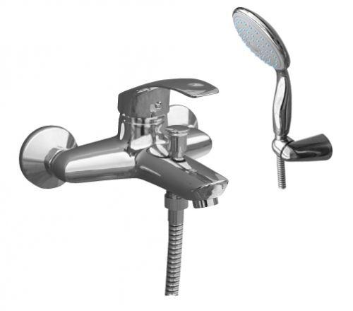 Mississippi MS054.5/2 ХромСмесители<br>Rav Slezak Mississippi MS054.5/2 смеситель для ванны с  душем в комплекте. Шланг -150 см. Автоматическое переключение. Установка на стену. Подвижный держатель.<br>