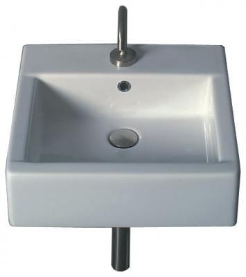Hox WS01301F белаяРаковины<br>Раковина White stone Hox 48 WS01301F подвесная /накладная с одним отверстием под смеситель.<br>