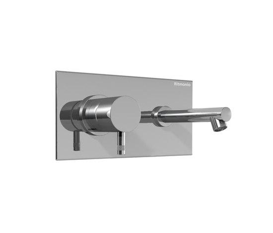 EOBA0113DX CRL (Хром)Смесители<br>Смеситель для раковины DIAMETROTRENTACINQUE EOBA0113DX CRL двухсекционный, встраиваемый в стену с декоративной панелью - излив 140 мм справа (диаметр ручек 45 мм). Цвет: хром.<br>
