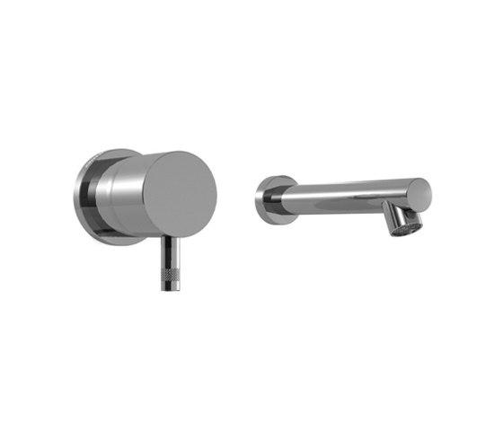 EOBA0113SPDX INX (Матовый никель)Смесители<br>Смеситель для раковины DIAMETROTRENTACINQUE EOBA0113SPDX INX двухсекционный, встраиваемый в стену - излив 140 мм справа (диаметр ручек 45 мм). Цвет: матовый никель.<br>