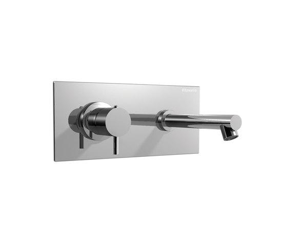 EOBA0440DX CRL (Хром)Смесители<br>Смеситель для раковины DIAMETROTRENTACINQUE EOBA0440DX CRL двухсекционный, встраиваемый в стену с декоративной панелью - излив 140 мм справа (диаметр ручек 35 мм). Цвет: хром.<br>