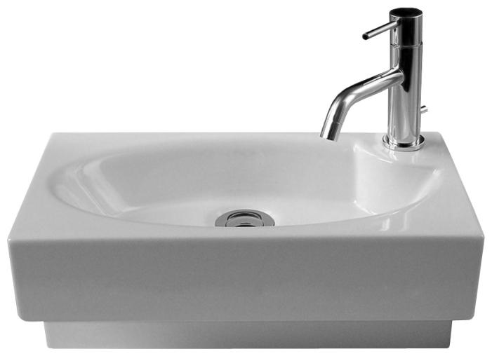 Deca WSB5501F белаяРаковины<br>Подвесная раковина White stone Deca WSB5501F с одним отверстием под смеситель, с переливом.<br>