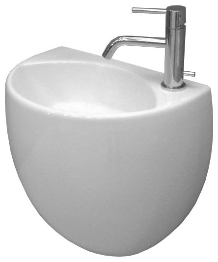 Kilo WSB7001F белаяРаковины<br>Подвесная раковина White stone Kilo с одним отверстием под смеситель, с переливом.<br>