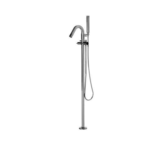 EOBA0475 CRL (Хром)Смесители<br>Напольный смеситель для ванны DIAMETROTRENTACINQUE EOBA0475 CRL с ручным душем и гибким шлангом. Цвет: хром.<br>