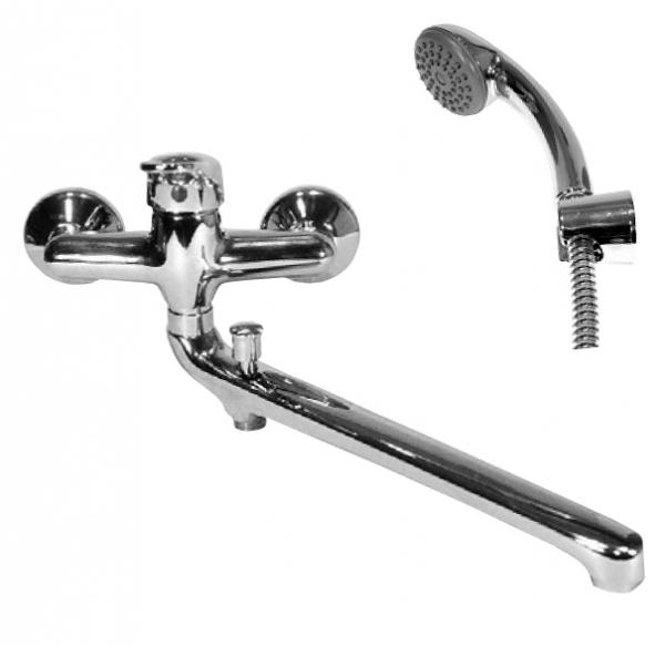 Svitava S557.5/1 Ручка 3KR3503Смесители<br>Rav Slezak Svitava S357.5/1 смеситель для ванны смеситель для ванны с душем в комплекте. Подвижный держатель. Шланг - 150 см. Установка на стену.<br>