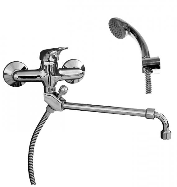 Svitava   S558.5/1 Ручка 1KR3505Смесители<br>Rav Slezak Svitava  S558.5/1  смеситель для ванны. Поворотный излив,душ в комплекте. Шланг - 150 см. Стабильный держатель лейки. Установка на стену. смеситель для ванны. Поворотный излив,душ в комплекте. Шланг - 150 см. Стабильный держатель лейки. Установка на стену.<br>