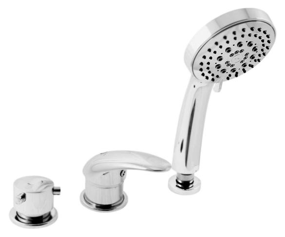 Dunaj D475.5P золотойСмесители<br>Смеситель на борт ванны Rav Slezak Dunaj D475.5PZ монолитный, с душевым гарнитуром, изготовлен из высококачественной латуни, которая исключает какую-либо коррозию. Латунные рукоятки. Качественный керамический картридж 40 мм Kerox, производство Венгрия, гарантирует долговечность и мягкий поток воды. Керамический переключатель душ/излив. Пластиковый шланг с пружиной, которая обеспечивает лёгкое возвращение шланга в держатель. Длина шланга 2000 мм. Пластиковая душевая лейка с пятью режимами, с антикальк резиновыми насадками. Цена указана за смеситель, шланг, душевую лейку и комплект крепления. Все остальное приобретается дополнительно.<br>