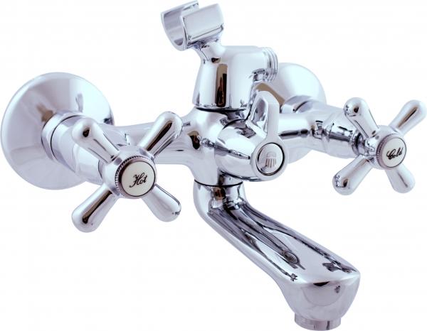 Morava MK154.5 Керамический картриджСмесители<br>Rav Slezak Morava MK154.5 смеситель для ванны с керамическим переключателем. Керамический картридж. Гибкая подводка.<br>