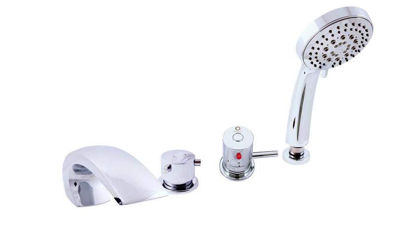 Смеситель на борт ванны Rav Slezak Dunaj Termostat DT272.5P золотой смеситель для ванны rav slezak dunai termostat dt274 5pz