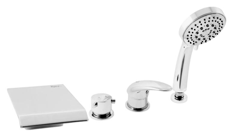 Dunaj D473.5P золотойСмесители<br>Смеситель на борт ванны Rav Slezak Dunaj D473.5PZ монолитный, с душевым гарнитуром, изготовлен из высококачественной латуни, которая исключает какую-либо коррозию. Латунные рукоятки. Качественный керамический картридж 40 мм Kerox, производство Венгрия, гарантирует долговечность и мягкий поток воды. Керамический переключатель душ/излив. Пластиковый шланг с пружиной, которая обеспечивает лёгкое возвращение шланга в держатель. Длина шланга 2000 мм. Пластиковая душевая лейка с пятью режимами, с антикальк резиновыми насадками. Цена указана за смеситель, шланг, душевую лейку и комплект крепления. Все остальное приобретается дополнительно.<br>