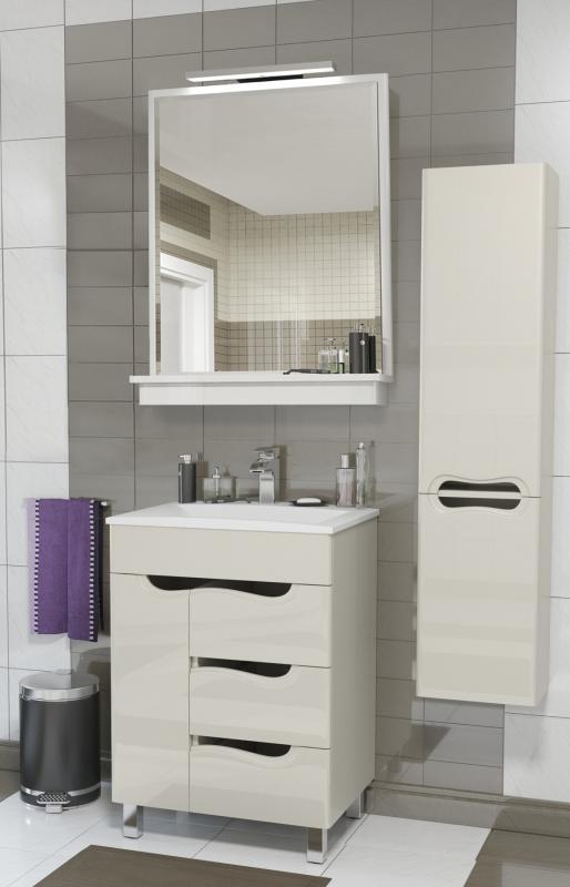 Felice 60 ПаннакотаМебель для ванной<br>Мебель для ванной Valente Felice Fic600 90-01. Цена указана за тумбочку с раковиной. Так же, их можно дополнить другими элементами из коллекции Felice.<br>