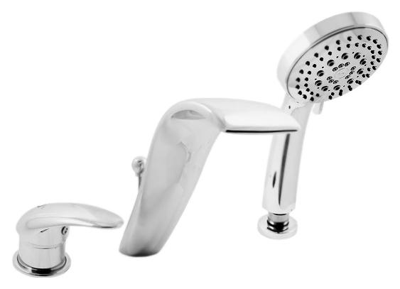 Dunaj D461.5S золотойСмесители<br>Смеситель на борт ванны Rav Slezak Dunaj D461.5SZ монолитный, с душевым гарнитуром, изготовлен из высококачественной латуни, которая исключает какую-либо коррозию. Латунные рукоятки. Качественный керамический картридж 40 мм Kerox, производство Венгрия, гарантирует долговечность и мягкий поток воды. Переключатель душ/излив на изливе. Пластиковый шланг с пружиной, которая обеспечивает лёгкое возвращение шланга в держатель. Длина шланга 2000 мм. Пластиковая душевая лейка с пятью режимами, с антикальк резиновыми насадками. В комплекте смеситель, шланг, душевая лейка и комплект крепления.<br>
