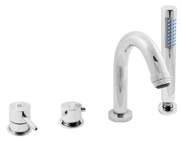 Seina SE962.5P хромСмесители<br>Смеситель на борт ванны Rav Slezak Seina SE962.5P монолитный, с душевым гарнитуром, изготовлен из высококачественной латуни, которая исключает какую-либо коррозию. Латунные рукоятки. Качественный керамический картридж 35 мм Kerox, производство Венгрия, гарантирует долговечность и мягкий поток воды. Керамический переключатель душ/излив. Пластиковый шланг с пружиной, которая обеспечивает лёгкое возвращение шланга в держатель. Длина шланга 2000 мм. Пластиковая душевая лейка с антикальк резиновыми насадками. В комплекте смеситель, шланг, душевая лейка и комплект крепления.<br>