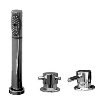 Seina SE975.5P ХромСмесители<br>Rav Slezak Seina SE975.5P каскадный смеситель для ванны. Врезной на 3 отверстия. В состав комплекта входит душевой шланг с пружиной и переключатель керамический MD0448.5. Монтаж на борт ванны и плиточный бортик.<br>