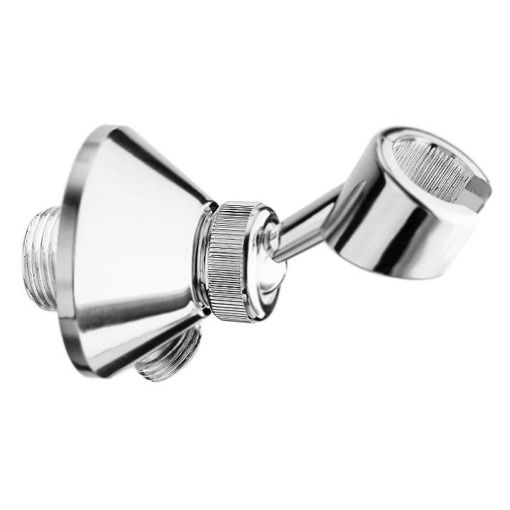 Comfort AC0441 ХромДушевые гарнитуры<br>Шланговое подключение Webert Comfort AC0441015 угловое, настенное, с поворотным держателем ручного душа.<br><br>Покрытие: глянцевый хром.<br>Материал: качественная латунь с минимальным процентом свинца: Состав материала соответствует международным нормам.<br>Защита от царапин, влаги и воздействия окружающей среды.<br>Подключение: G1/2 М.<br><br>