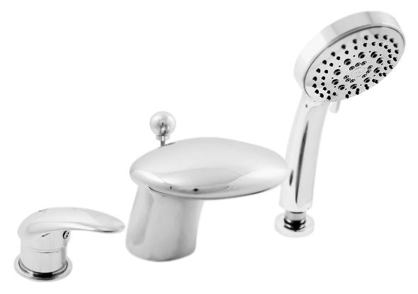 Dunaj D471.5S золотойСмесители<br>Смеситель на борт ванны Rav Slezak Dunaj D471.5SZ монолитный, с душевым гарнитуром, изготовлен из высококачественной латуни, которая исключает какую-либо коррозию. Латунные рукоятки. Качественный керамический картридж 40 мм Kerox, производство Венгрия, гарантирует долговечность и мягкий поток воды. Переключатель душ/излив в изливе. Пластиковый шланг с пружиной, которая обеспечивает лёгкое возвращение шланга в держатель. Длина шланга 2000 мм. Пластиковая душевая лейка с пятью режимами, с антикальк резиновыми насадками. В комплекте смеситель, шланг, душевая лейка и комплект крепления.<br>