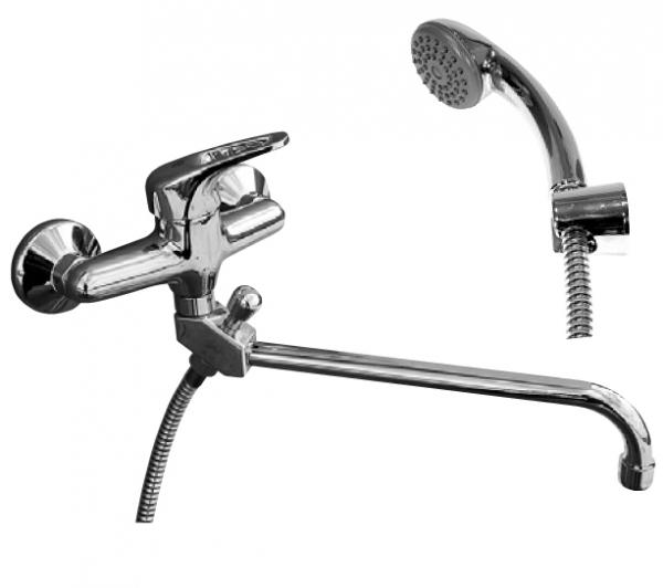 Svitava S555.5/1 Ручка 1KR3505Смесители<br>Rav Slezak Svitava S555.5/1 смеситель для ванной. Поворотный излив,душ в комплекте. Шланг - 150 см. Стабильный держатель лейки. Установка на стену.<br>
