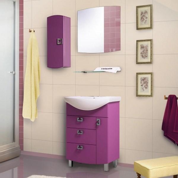 Acquisto 70 ФиолетоваяМебель для ванной<br>Тумба с раковиной Valente Acquisto Ac700 90-02.<br>