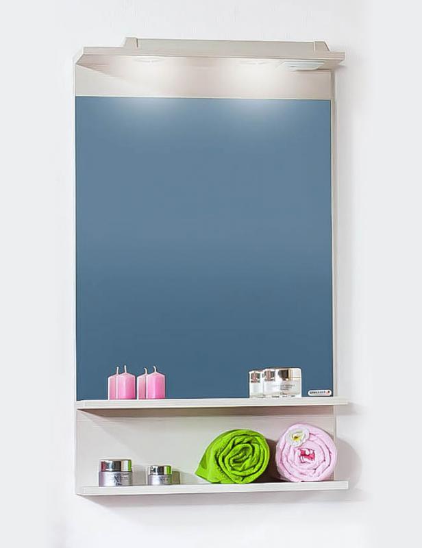 Чили/Куба 55 Светлая лиственницаМебель для ванной<br>Зеркало Бриклаер Чили / Куба 55. Цвет светлая лиственница.<br>